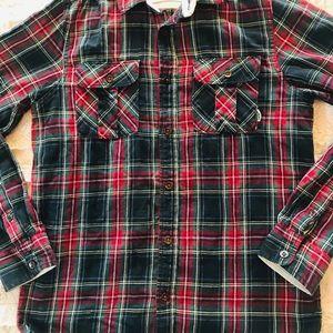 Vans men's plaid button down shirt